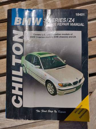 Photo Chilton Repair Manual for 1999-2005 BMW 3 - series  Z4 - Shop Service - $18 (Manor)