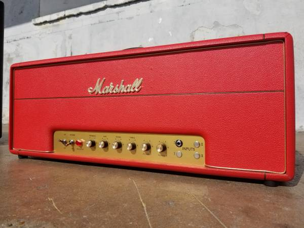 Photo Fire Engine Red Marshall Super Lead Plexi Guitar Head Metropoulos - $1,625 (Houston)