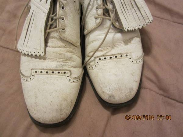 Photo Foot Joy Classic Leather Golf Shoes...Shoe size 10.5 med - $30 (pfugerville)