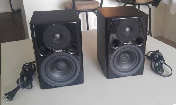 Photo Fostex PMO.4n Powered Studio Monitor Pair - $60 (San Marcos)
