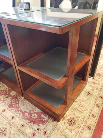 Photo Glass top tables-retro design - $40 (Kyle)