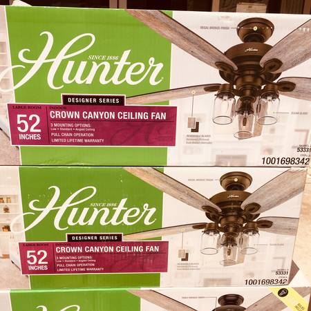 Photo HUNTER - Crown Canyon 52 in. LED Indoor Regal Bronze Ceiling Fan - $90 (NW Austin)