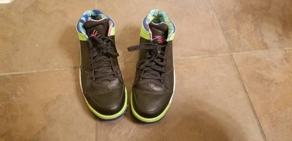 Photo Jordan Mens Flight 45 High Bel Air Pink Blue Black Green Nike White - $40 (South austin)
