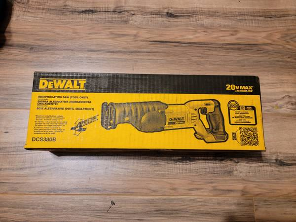 Photo NEW Dewalt 20v Volt Reciprocating Saw Sawzall (DCS380B - Tool only) - $80 (NW Austin)