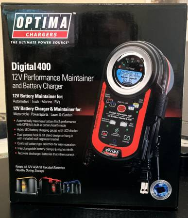 Photo NEW OPTIMA DIGITAL 400 BATTERY CHARGER  MAINTAINER - $75 (ROUND ROCK)