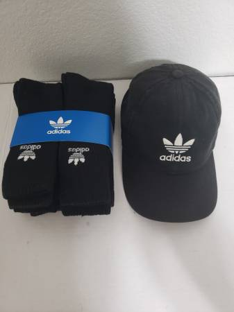 Photo New Adidas Socks and Adidas Cap - $20 (Austin)
