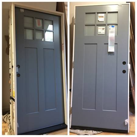 Photo New ThermaTru Insulated Front Exterior Door With 6 Frosted Panes - $1,175 (Austin)