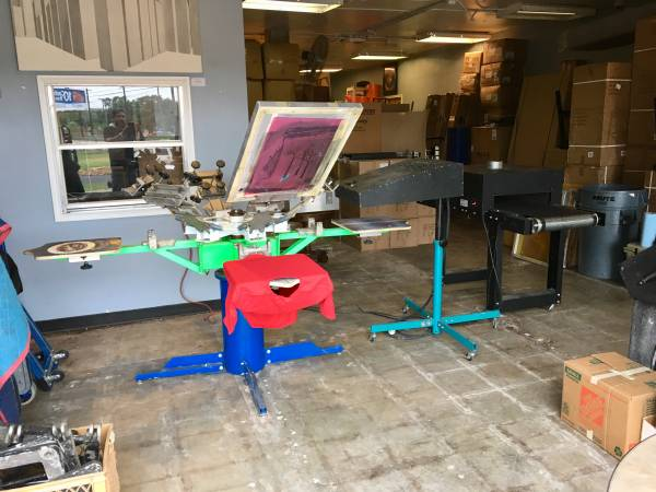 Photo Riley Hopkins Silk Screen Press - Whole Set Up Included - $3,500 (Central Austin)