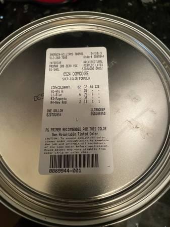 Photo SHERWIN WILLIAMS PAINT quotCOMMODOREquot 6524 Brand New - DARK BLUE NAVY - $25 (Leander Crystal Falls)