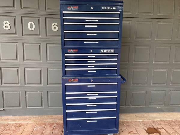 Photo Three Piece Craftsman Tool Chest Set - GREAT CONDITION - $500 (Austin)