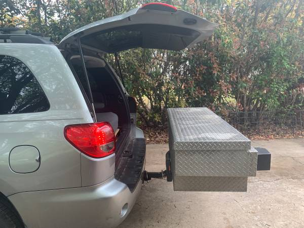 Photo Truck tool box with Swing Away trailer hitch cing work storage - $550