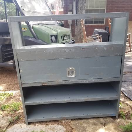 Photo Van Cargo bins and storage shelves - $200 (south end of mopac near slaughter)