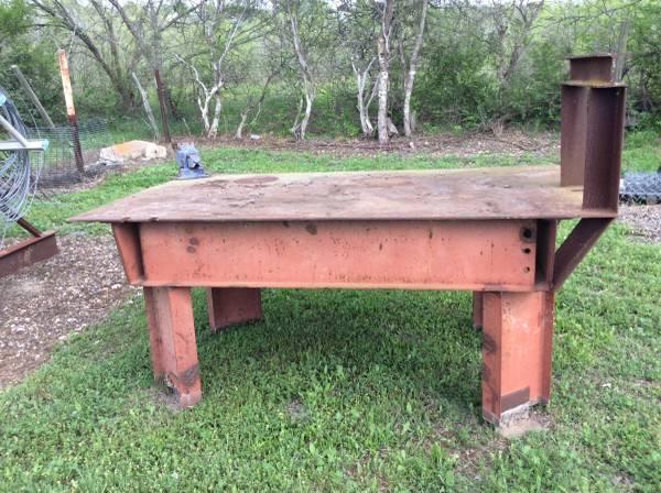Photo WELDING TABLE AND RACK - $900 (Mustang Ridge)