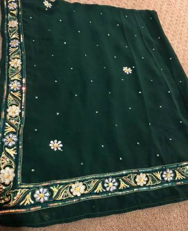 Photo Womens party wear wrap, saree, beadwork, grand outfitsskirt 3 piece - $25 (620 and great oaks, near st davids hospital in round rock)
