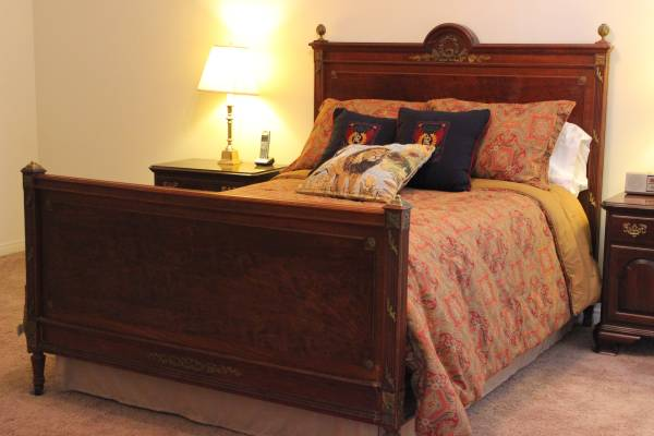 Photo 1880s Antique Louis XVI Mahogany Double Bed Belle Epoque French Ormolu - $1,695 (NW Bakersfield)