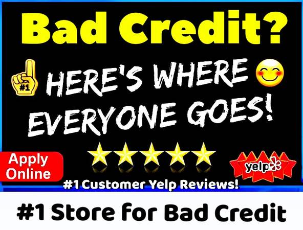 Photo 1 STORE for BAD CREDIT  WE BEAT EVERY DEALER ON CRAIGSLIST (CREDIT PROBLEMS APPLY ONLINE with THE 1 YELP STORE)