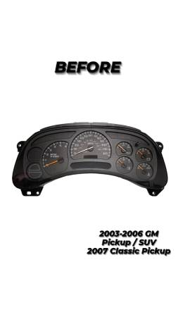 Photo 2003-2007 CHEVY GMC CADILLAC INSTRUMENT CLUSTER UPGRADE - $350 (Bakersfield)