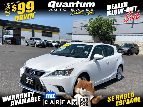Photo 2017 Lexus CT CT 200h Hatchback 4D (- $99 Down oac- GET APPROVED IN MINUTES)