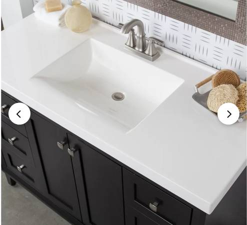 Photo 49quot cultured marble vanity top - $125 (Pine Mountain Club)