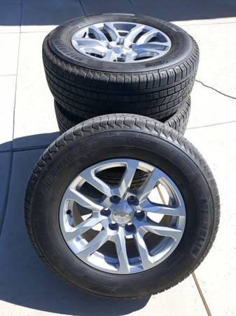 Photo Brand New Michelin Chevrolet  GMC Take Off Wheels  Tires 18quot - 6 Lug - $1,575 (Bakersfield)