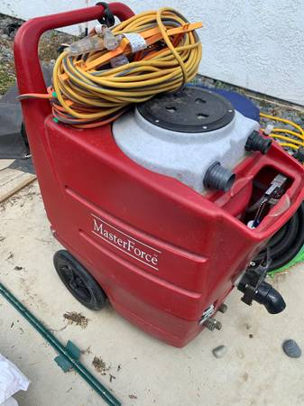 Photo Complete portable professional carpet cleaning system for sale Master Force - $1,900 (Bakersfield)