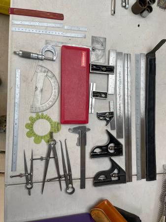 Photo Engineering Machinist Tools Calipers Micrometers - $250 (and lots more including Carbide Cutting Bits)