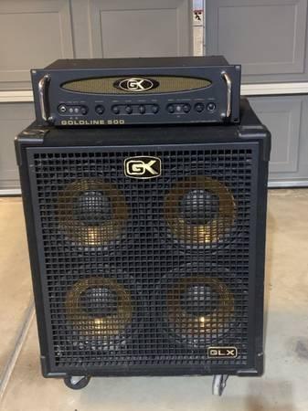 Photo Gallien-Krueger golden line 500 bass head and 4x10 bass cabinet package. - $650 (Bakersfield)