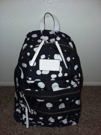 Photo Marc Jacobs Designer Backpack Tote w White Leather Accents - $100