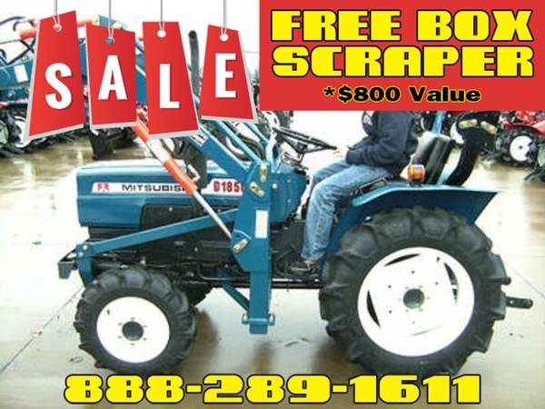 Photo Mitsubishi D1850 Tractor FREE Box Scraper Included - $800 Value (Call Us About Our Lay-A-Way Program Today)