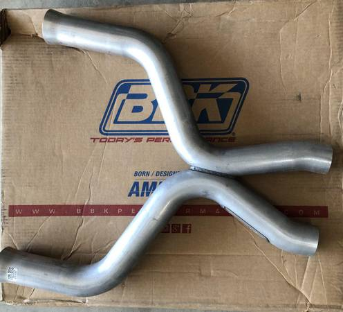 Photo New BBK 1460 2-34quot High Flow Performance X Pipe for Mustang GT - $120 (Bakersfield)