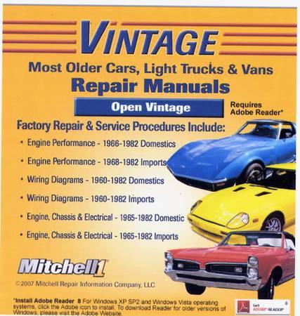 Photo OLDER CARS (1960-1982) REPAIR ON DVD - $15 (Richmond)