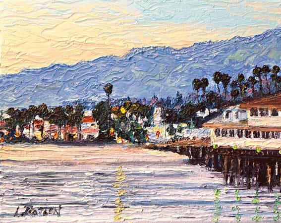 Photo Oil Painting by L. Rotsen,quotSundownquot, Santa Barbara CA. - $75 (Van Nuys)