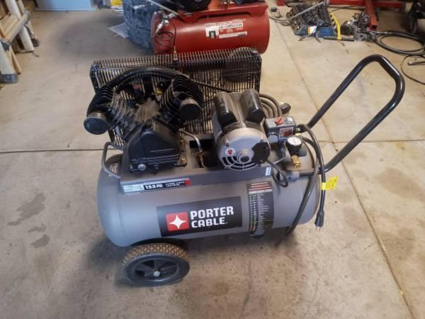 Photo Porter Cable Belt Drive Air Compressor - $300 (lake isabella)