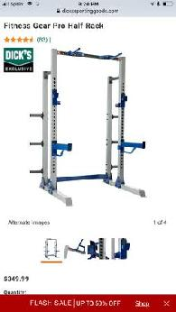 Fitness Gear Pro Fr600 Full Rack Cage 275 Sports Goods For Sale Richmond In