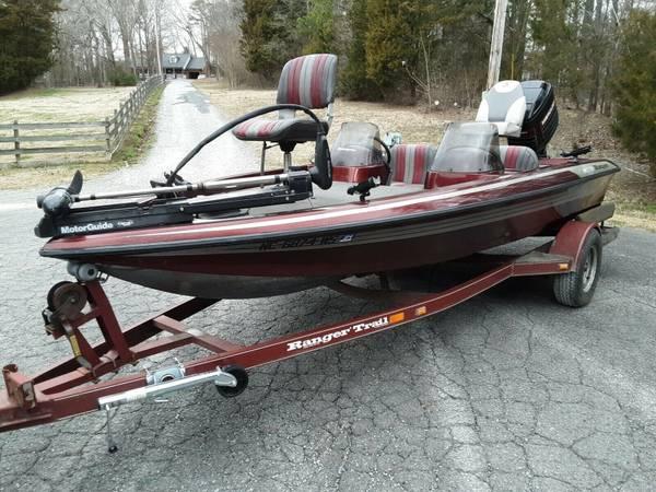 Photo 17ft Fresh Water Bass Boat wMoto - $1,200 (Harford Co)
