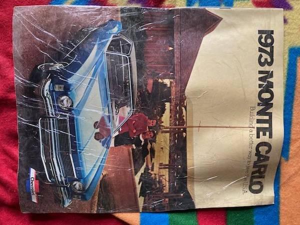 Photo 1973 Chevy Monte Carlo sales brochure - very nice - $10 (Bel Air, Md)