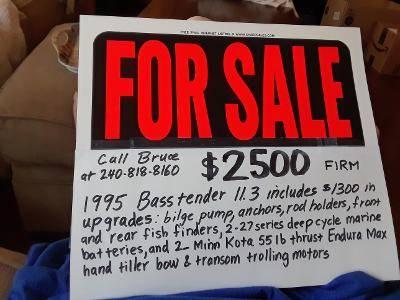 1995 Basstender boat 11.3ft - $2,500 (Manchester)