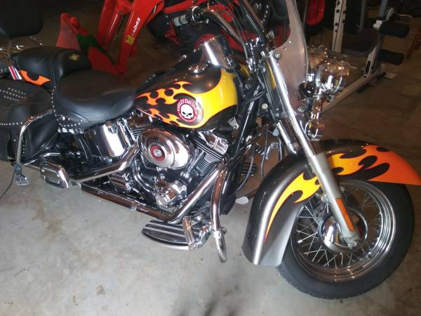 Photo 2003 Anniversary editionHarley Davidson Heritage Soft Tail Classic - $8,000 (Carroll County)