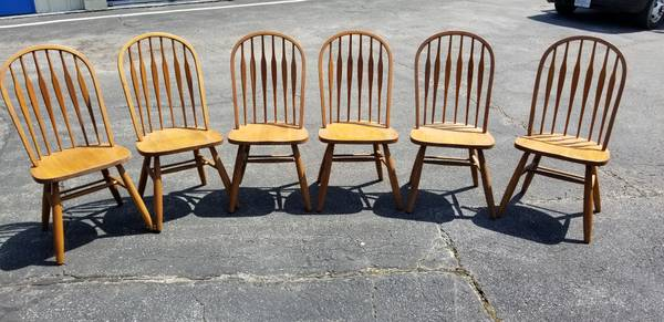 Photo 6 Solid Oak Dining Chairs - $360 (Laurel,Md)