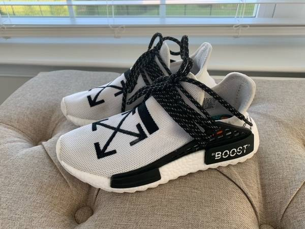 Photo ADIDAS NMD HUMAN RACES x OFF-WHITE x PHARRELL WILLIAMS COLLABORATION - $150 (Fallston)