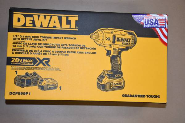 Photo A Brand New Never used 20 V Impact Wrench, Cat. No. DCF899P1 - - $259 (White Hall, MD)