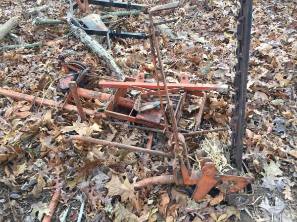 Photo Allis-Chalmers G LOT Plow, rear hitch, sickle bar, layoff plow - $575 (Westminster)