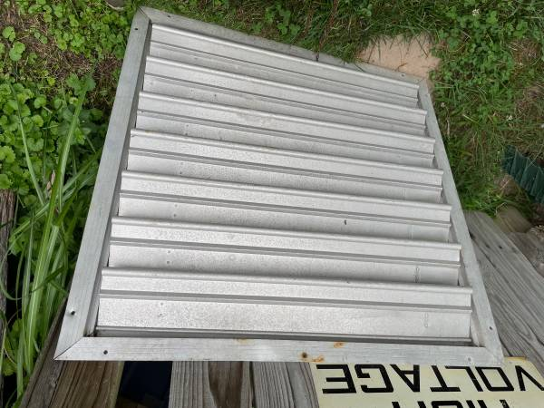 Photo Aluminum Louvered Vent Industrial 34quot Heavy Duty Old School Quality - $75 (Joppa, Harford, Maryland)