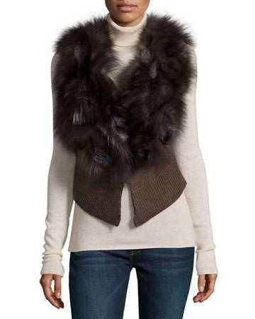 Photo Authentic Silver Fox Fur Vest - Great Condition - $95 (Forest Hill)