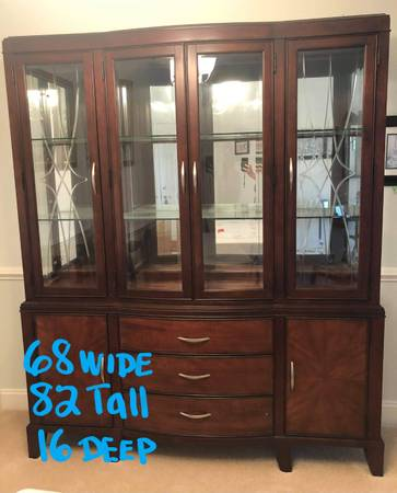 Photo BEAUTIFUL CHINA CABINET (( DELIVERY AVAIL )) - $400 (FOREST HILL MD)