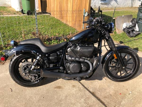 Photo Blacked out Yamaha Bolt C-Spec (950cc) - $6,250 (Parkville)