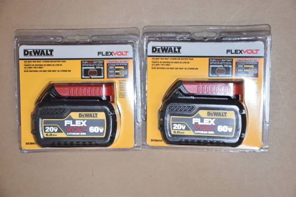 Photo Brand New Dewalt 20 V, MAX, XR Batteries and chargers (Bel Air, MD)