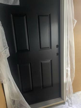 Photo Brand new doors prehung 33,36 white, steel, 6 panel and glass - $150 (Halethorpe)
