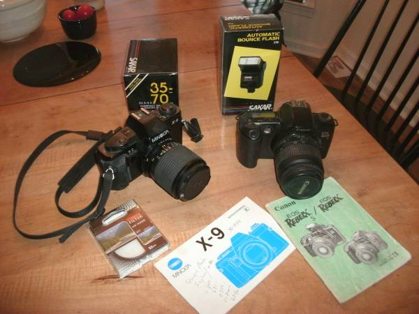 Photo Canon REBEL EOSMinolta X-9 cameras - $50 (Baldwin)