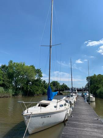 Photo Catalina 25 Swing Keel, New Motor and Trailer - OBO - $5,800 (Charlestown, MD)